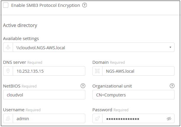 Creating a cloud volume | NetApp Cloud Docs