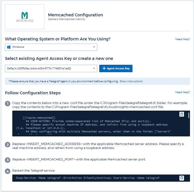 Memcached Data Collector | NetApp Cloud Docs