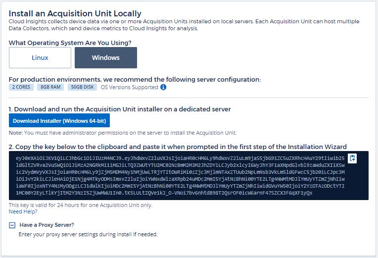 Configuring Acquisition Units | NetApp Cloud Docs