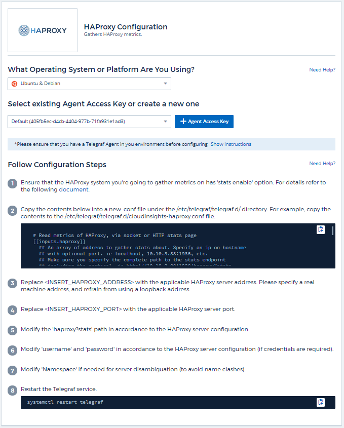 HAProxy Data Collector | NetApp Cloud Docs