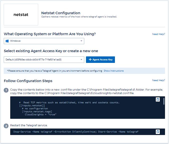 Netstat Data Collector | NetApp Cloud Docs